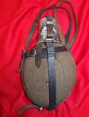 **ww2 German Army Uniform Water Bottle Cover Leather Harness 1939 Cfl