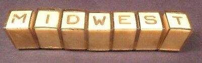 vintage*  MIDWEST 16 SERIES RADIOS:  7 PRE-SET BUTTONS says MIDWEST or stations