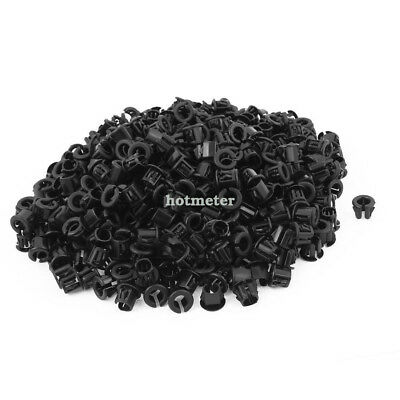 500Pcs OSB-10 6mm Wire Hole Dia Cable Harness Protector Snap Bushing 9.8 x11.8m