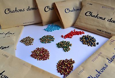 JOBLOT 500 Packs Vintage Pointed Back Rhinestones Jewellery Making Art & Craft