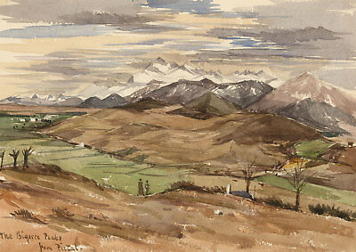T. Dobson - Late 19th Century Watercolour, French Mountain Scene