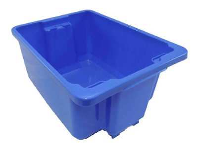 5 X 20L Plastic Storage Tubs Containers Strong Crate Bin Crates Box Boxes 20LT