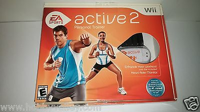 EA SPORTS ACTIVE 2 PERSONAL TRAINER BUNDLE HEART MONITOR Nintendo Wii NEW SEALED