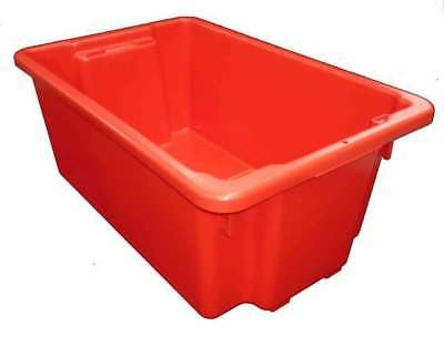 5 X 52L Plastic Storage Tubs Containers Strong Crate Bin Crates Box Boxes 52LT