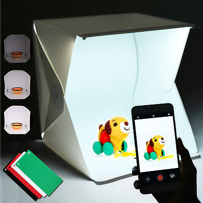 Portable Mini Light Room Photo Studio Photography Lighting Kit Backdrop Cube Box