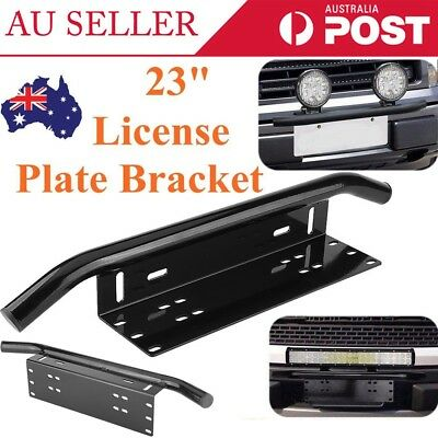 License Number Plate Frame Holder Bar Bumper Mount LED Light Bracket AU Stock