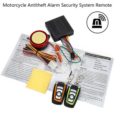 12V Motorcycle Bike Anti-theft Security Alarm System Keyless Remote Control