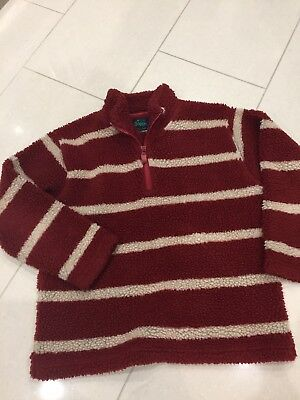 Mini boden Boys Girls striped fleece coat with age 9-10 years