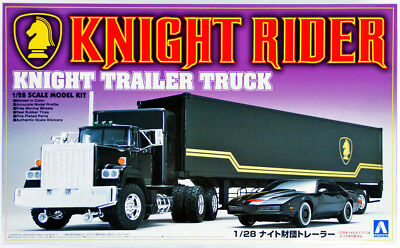 Knight Trailer Truck von KITT Knight Rider 1:28 Model Kit Bausatz Aoshima 030660
