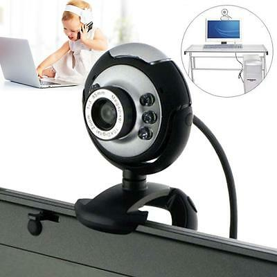 USB 6 LED 50 Mega Pixel HD Webcam Camera With MIC Microphone PC Laptop Skype XZp