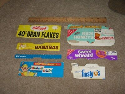 cereal box 1960s (6) Winnie Pooh Sweet Wheats FrostyOs Rice Honeys Bubble Club