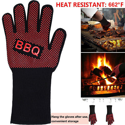 Heat Resistant Silicone Kitchen Oven Glove Cooking Grilling Barbecue Mitt Gloves
