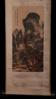 Incredible Chinese Handwork Landscape Sroll Painting Marked KK715
