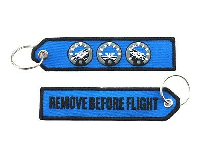 Artificial Horizon Remove Before Flight Key Ring Luggage Tag