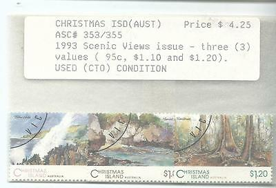 1993 Scenic Views Part set 95c,$1.10,1.2. CTO in envelope as purchased in 1990's