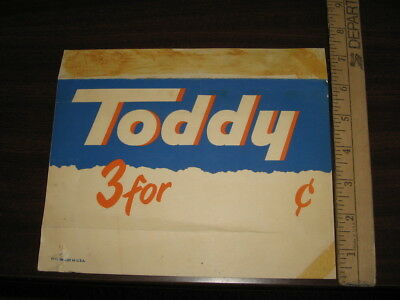OVALTINE 1940s grocery store shelf talker display TODDY hot instant cocoa