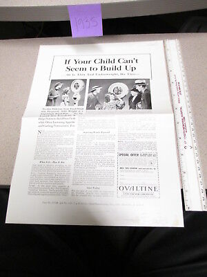 OVALTINE PROOF 1935 mag news ad blank back LITTLE ORPHAN ANNIE premium BUILD UP