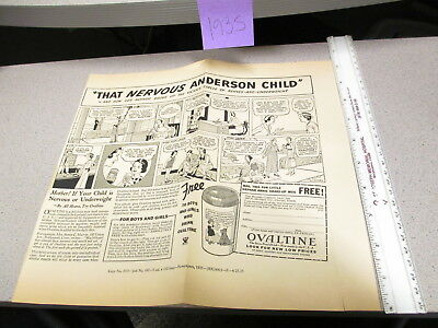 OVALTINE PROOF 1935 mag news ad blank back LITTLE ORPHAN ANNIE premium ANDERSON