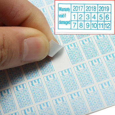1200x Warranty Void If Damaged Protection Security Labels Stickers Seals 2017-19