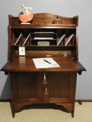 ANTIQUE VINTAGE ART DECO RETRO SECRETAIRE BUREAU DROP FRONT WRITING DESK C1930's