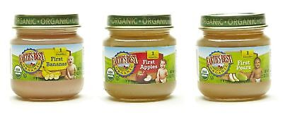 Earth's Best Organic Stage 1 Baby Food My First Fruits Variety Pack 12 Count
