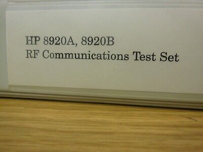 HP/Agilent 8920A/B RF Communications Test Set Application Handbook Loc: 392