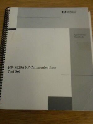 HP/Agilent 8920A RF Communications Test Set Applications Handbook Loc: 417
