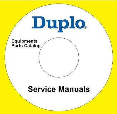 Duplo Equipments Service Manuals Parts Catalog User Guide Maintenance Lot ON CD