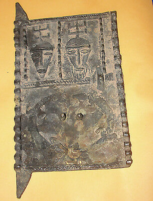 African Old Bronze / Brass Dogon Granary Door Sculpture Statue Africa Mali Baule