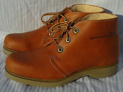 New Old Stock Vintage Made In Usa Wolverine Men's Size 9 Work Ankle Chukka Boots