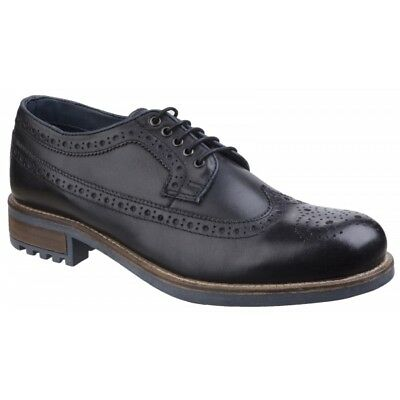 Cotswold POPLAR Mens Leather High Grip Waterproof Brogue Derby Lace Up Shoes