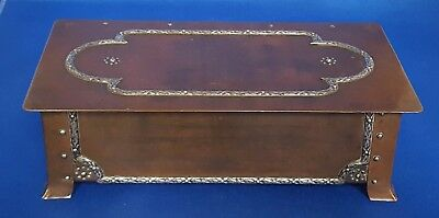 Arts and Crafts A E Jones Anne Grisedale Stubbs silver and copper box
