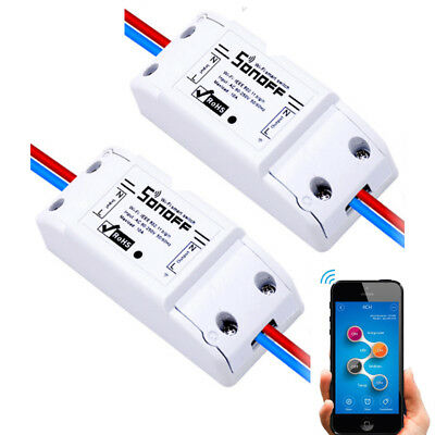 2 x  Sonoff Smart Home WiFi Wireless Switch Module for Apple Android APP DIY AU
