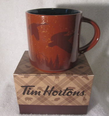TIM HORTONS 2017 CHRISTMAS LTD Ed COFFEE MUG  RED DEER WITH BOX NEW