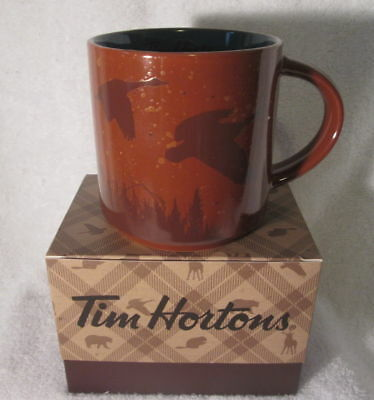 TIM HORTONS 2017 CHRISTMAS LTD Ed COFFEE MUG  FLYING GOOSE WITH BOX NEW