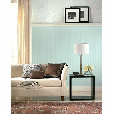 1 Ft Double Roll And Sheets Beadboard Paintable Wallpaper Textured White 56 Sq
