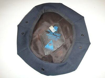 Dark Blue Color Cotton Made MILITARY SERVICE CAP COVER *New, Never Used*