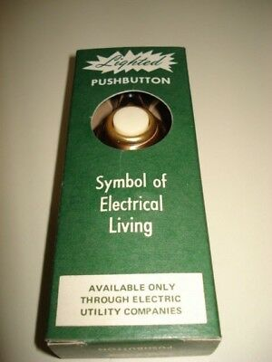 New Vintage 1960's Lighted Pushbutton Total Electric Home Door Bell