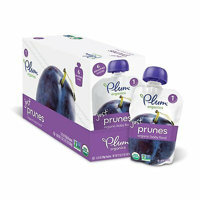 Plum Organics Stage 1, Organic Baby Food, Just Prunes, 3.5 ounce pouch Pack of