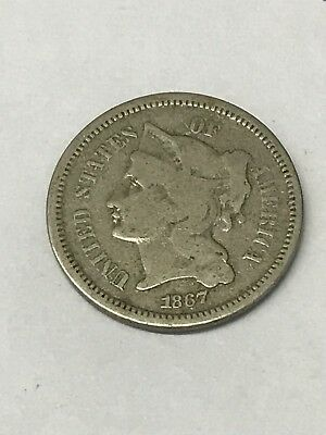 1867 Three Cent Nickel You Grade