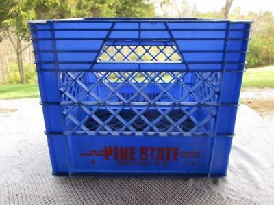 Vintage Pine State Creamery Crate Heavy Duty Plastic Stackable Raleigh, NC Rare!