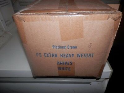 Platinum Crown Ps Extra Heavy Weight Knives 1000 Bulk White-502Wh Cutting Edge.