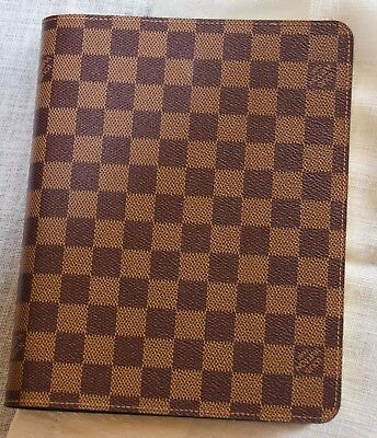 AUTHENTIC Louis Vuitton Desk Agenda Cover and LV Notepad . Original Packing.