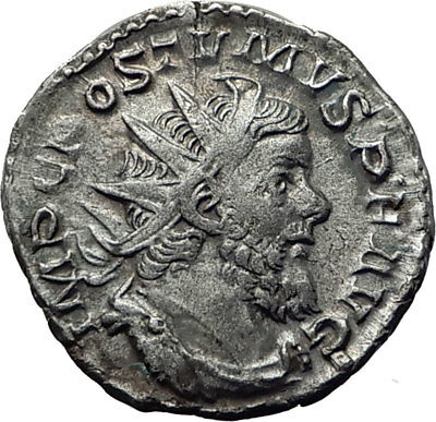 POSTUMUS  266AD Lyons Silver Authentic Ancient Roman Coin FIDES Trust i65347