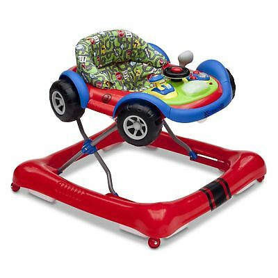 Delta Children Lil Drive Play Car Style Rolling Baby Bouncer Walker, GT Roadster