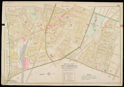 1900 Middlesex County, Ma, Somerville, Central Hill & Lincoln Park Atlas Map