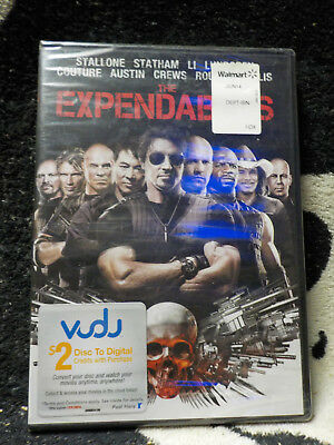 The Expendables NEW SEALED Blu Ray Sylvester Stallone Jet Li Free Shipping