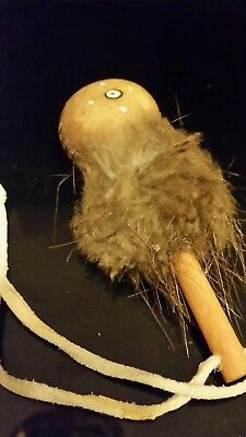 Vintage Native American Indian Handmade Baby Rattle Unsigned