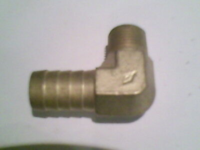 1Pc Elbow Brass Barb Fitting 1/2 Hose X 3/8 Male Npt