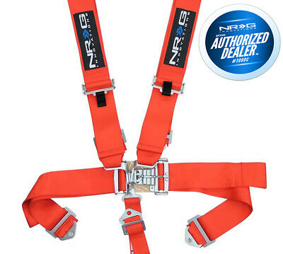 NRG 5 Point Racing Harnesses Latch & Link SFI Approved SBH-5PCRD ( Red )